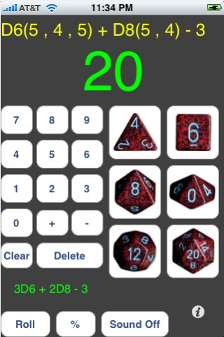 Screenshot D20 Gaming Dice Pro