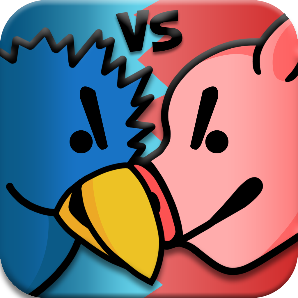 Attacking Birds vs Scared Piggies Free by Bernard Gym icon